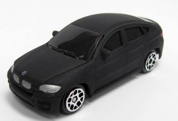 Машина металлическая 1:64 BMW X6, без механизмов, черный ...